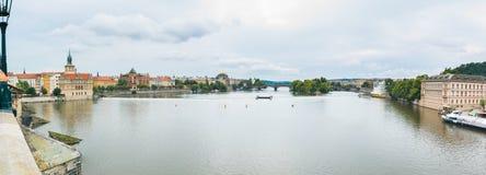 Charles mosta panorama 2 Zdjęcia Royalty Free