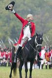 Charles O'Hara salutes 21st century crowd Royalty Free Stock Photography