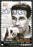 Charles Perkins Australian Postage Stamp Stock Photo