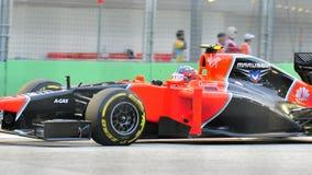 Charles Pic που συναγωνίζεται F1 σε Σινγκαπούρη GP Στοκ Εικόνα