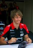 Charles Pic at Moscow City Racing Stock Images