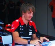 Charles Pic at Moscow City Racing Stock Image