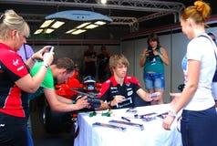 Charles Pic at Moscow City Racing Stock Photo