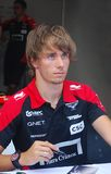 Charles Pic at Moscow City Racing Royalty Free Stock Image