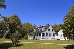 The Charles Pinckney National Historic Site in SC. National Park in SC at the Snee Farm Site royalty free stock photography