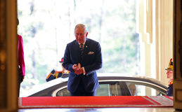 CHARLES, PRINCE OF WALES IN ROMANIA Stock Photography