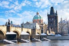 Charles przerzuca most, Stary miasteczko, Praga, republika czech (UNESCO) Zdjęcie Stock