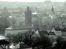 Charles przerzuca most, Vltava rzeka w Praga, republika czech Obrazy Royalty Free