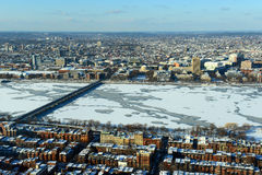 Charles River and Back Bay in Boston, USA Stock Photography