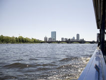 Charles River and Boston from a Duck Stock Photography