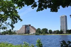 The Charles River, Boston, MA stock photo