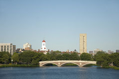 Charles River Bridge. Bridge over Charles River in Boston, Massachuesets Royalty Free Stock Image