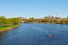 Charles River in de Lente royalty-vrije stock foto