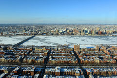 Charles River e baía traseira em Boston, EUA Fotografia de Stock Royalty Free