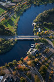 Charles River en Cambridge stock afbeelding