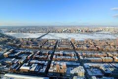 Charles River och baksidafjärd i Boston, USA Arkivbilder