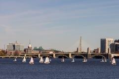 Charles River på solig dag Royaltyfria Bilder