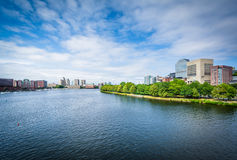 The Charles River, seen from the Longfellow Bridge, in Boston, M Royalty Free Stock Image