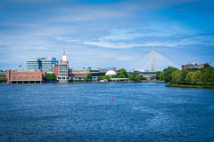 The Charles River, seen from the Longfellow Bridge, in Boston, M Stock Image