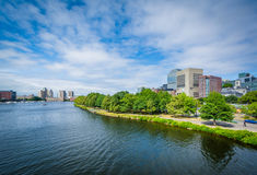 The Charles River, seen from the Longfellow Bridge, in Boston, M Stock Photo