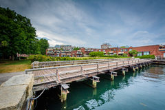 The Charles River waterfront in Charlestown, Boston, Massachuset Stock Image