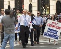 Charles Schumer en 2015 celebra a Israel Parade en Nueva York Fotografía de archivo libre de regalías