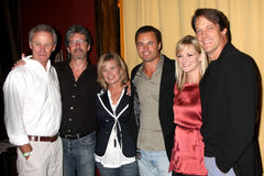 Charles Shaughnessy, Mary Beth Evans, Mary-Beth Evans, Tristan Rogers, Matte Borlenghi, Matthew Ashford, Martha Madison Royalty-vrije Stock Foto