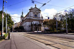 Charles Square. Church on Charles Square in Prague Stock Image