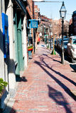 Charles Street at Beacon Hill in Boston, USA Stock Photography