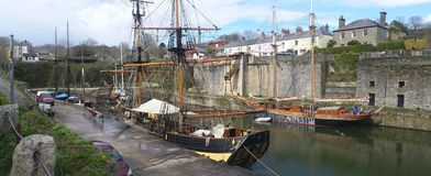 Charles town Cornwall the scene of podark and TV Drama Taboo Royalty Free Stock Photography