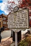 Charles Town Historic Marker Sign imagen de archivo libre de regalías