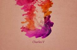 Charles V, Święty Romański Cesarz royalty ilustracja