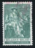 Charles V imprimé par la Belgique image libre de droits