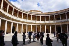Charles V pałac, Alhambra, Granada, Hiszpania zdjęcie stock