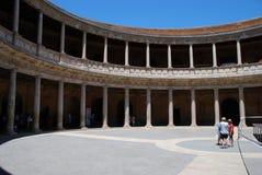 Charles V Palace courtyard, Alhambra Palace. Stock Image