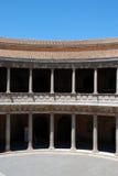 Charles V Palace courtyard, Alhambra Palace. Stock Photos