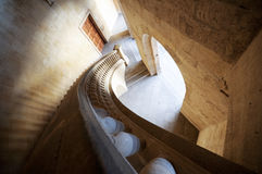 Charles V palace's stairs. The Palace of Charles V in the Alhambra in Granada Stock Image