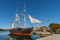 Charles W Morgan Drewniany Whaleship obraz stock