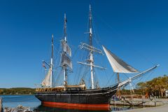 Charles W Morgan Wooden Whaleship photographie stock libre de droits