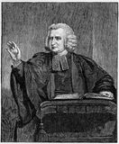 Charles Wesley. Preaching from the pulpit, engraving from Selections from the Journal of John Wesley, 1891 Vector Illustration