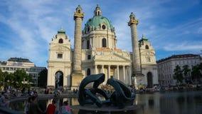 Charless Karls Kirche Wien stock foto