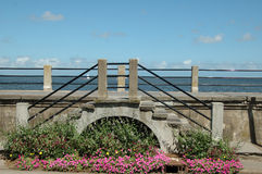 Charleston Architecture. Seawall in historic Charleton building Stock Images