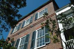 Charleston Architecture. Brick building detail taken in historic Charleton building Stock Photos