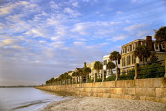 Charleston Battery Row Stock Photo