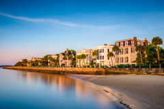Charleston at the Battery. Charleston, South Carolina, USA at the historic homes on The Battery Stock Photos