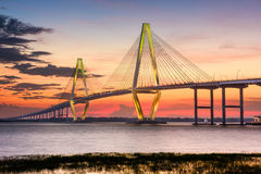 Charleston Bridge. Charleston, South Carolina, USA at Arthur Ravenel Jr. Bridge Royalty Free Stock Photography