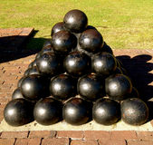 Charleston Cannon Ball Statue Royalty-vrije Stock Afbeelding