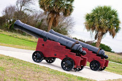 Charleston Canons Photos libres de droits