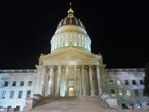 Charleston Capitol bij Nacht Royalty-vrije Stock Fotografie