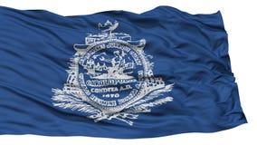 Charleston City Flag d'isolement, Etats-Unis d'Amérique Images libres de droits